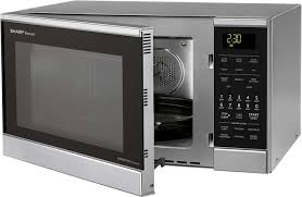 sharp 0 9 cu ft 900 watt countertop microwave stainless steel. convection microwave oven sharp r830bs - 0.9 cu. ft. 0 9 cu ft 900 watt countertop stainless steel