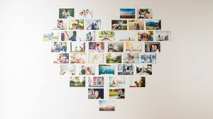 a heart photo wall in 3 steps