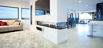 horizon 3 sided fire categories gas fireplaces