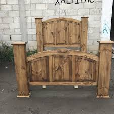image rustic mexican furniture. King Rustic Pine Wood Mansion Bed Image Mexican Furniture E