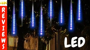Diy Meteor Shower Lights Christmas Light Decorating Ideas Led Meteor Shower Rain Lights Review And Unboxing