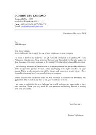 cover letter titles cover letter and cv dondon november 2014