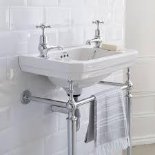 burlington victorian 56cm basin with chrome basin stand