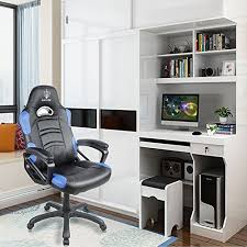 high back computer gaming chair. blue sword leather computer gaming chair large size racing style high back executive office with rocking function