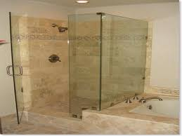 bathroom shower tile designs photos. Cream Marble Shower Tile For Bathroom With Glass Door And Built In Bathtub Under Recessed Designs Photos