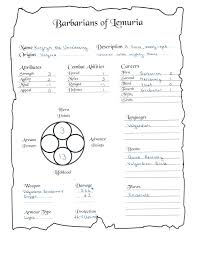 hero forge character sheet the tower of the silent sorcerer barbarians of lemuria creating a
