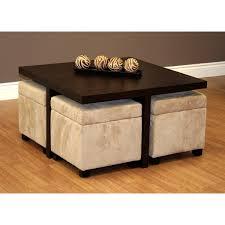 Round Rattan Ottoman Coffee Table Flip Top Ottoman Coffee Table Hayton Tufted Leg Shelf Table