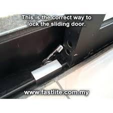 sliding glass door stopper lock on din rail track draft blocker
