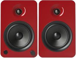 speakers 200 watts. kanto yu6 powered speakers kevlar woofer 200 watts with bluetooth™ and phono preamp - pair