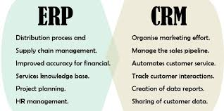 Crm Comparison Chart Difference Between Erp And Crm With Comparison Chart
