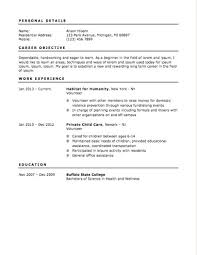 Resume Template For First Job Resume Template For Managers Singapore Iamfree Club