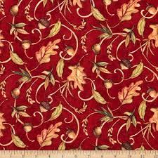 Cotton Quilt Fabric Fabric Harvest Time Leaf Toss Fall Autumn Red ... & Cotton Quilt Fabric Fabric Harvest Time Leaf Toss Fall Autumn Red - product  images of Adamdwight.com