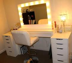 impressive vanity sets lights set and swivel chair with drawers makeup furniture mirror