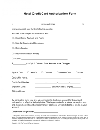 awesome credit card authorization form templates hilton new york