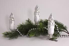 Eisweiss Silber 3 Grosse Kerzen
