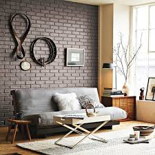 Small Picture Interior Designs Stylish Black Exposed Brick Wall Living Room