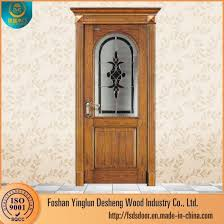 Wooden door designing Throughout Desheng Half Glass Wooden Door Patterns Foshan Yinglun Desheng Wood Industry Co Ltd China Desheng Half Glass Wooden Door Patterns China Wooden Door