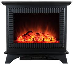 akdy 27 freestanding electric fireplace heater with log inserts transitional indoor fireplaces by akdy home improvement