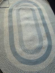 8 5x5 5 indoor area rug oval braided wool rope rug clean smoke free blue taupe for in plymouth mi offerup