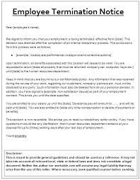 Sample Employee Termination Letter Template Employment Notice To ...