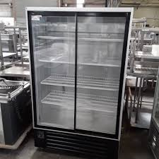 used usgc120 double 2 door glass display drink fridge for