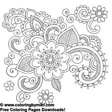 Henna Doodle Design Coloring Page 1018 Coloring By Miki