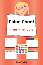 A color chart or color reference card is a flat, physical object that has many different color samples present. Color Charts For Toddlers And Preschoolers Free Printable The Teaching Aunt