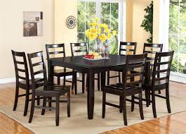 Square Dining Table With Leaf Sets That Seat 8 Set Cover Person Large Seats  Black Wooden