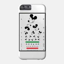 Phone Case Size Chart Eye Chart