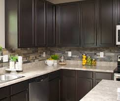 stone kitchen backsplash. So Here\u0027s What Her Kitchen Looks Like Now\u2026 Stone Backsplash