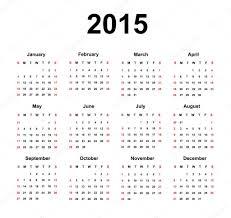 Simple 2015 Calendar Simple 2015 Calendar Stock Vector Gkszln 55432491