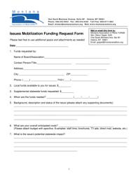 Fillable Online Montanarealtors Issues Mobilization Funding Request ...