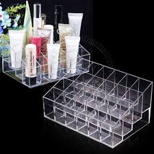 clear acrylic 24 lipstick holder display stand cosmetic organizer