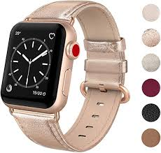 SWEES <b>Leather Band</b> Compatible for iWatch 38mm 40mm, <b>Genuine</b>