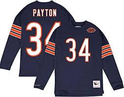 amp; Large com Walter Outdoors Name Bears 34 Payton Longsleeve Amazon Number Tee Sports Chicago