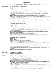 Associate Project Engineer Resume Samples Velvet Jobs