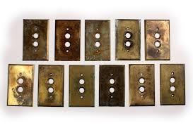antique switch plates. Brilliant Antique Antique Brass PushButton Light Switch Plate Covers  Preservation Station  Nashville TN For Plates E