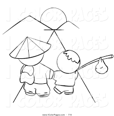 Royalty Free Kid Stock Coloring Page Designs