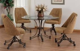 dinette sets chairs with casters. dining room chairs with casters sets furniture | modern dinette