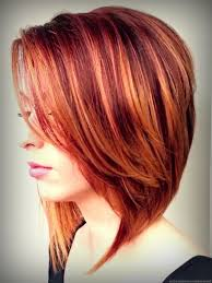 Red Hair With Blonde Highlights Hairstyle