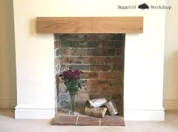 oak mantel shelf for fireplace rustic