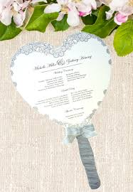 wedding program fan