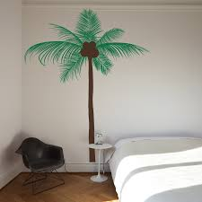 palm tree wall stickers: tall coconut palm tree wall decal