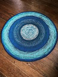 round rug blue green vindum rug blue green