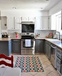 Eggshell Kitchen Cabinets Remodelaholic Grey And White Kitchen Makeover
