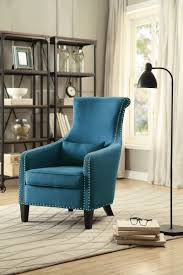 accent chairs for cheap. Homelegance Arles Accent Chair With 1 Kidney Pillow - Blue Chairs For Cheap