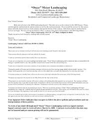 Sample Landscaping Invoice And Landscape Design Contract Template