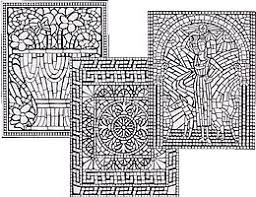 Small Picture Geometric Mosaic Coloring Pages mosaic colouring sheets