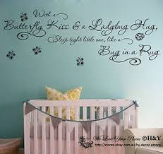 image is loading wall art quote vinyl decal 034 butterfly kiss  on nursery wall art stickers ebay with wall art quote vinyl decal butterfly kiss lady bug hug kids