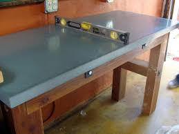 wide view of countertop with stanley level to make sure it stays even